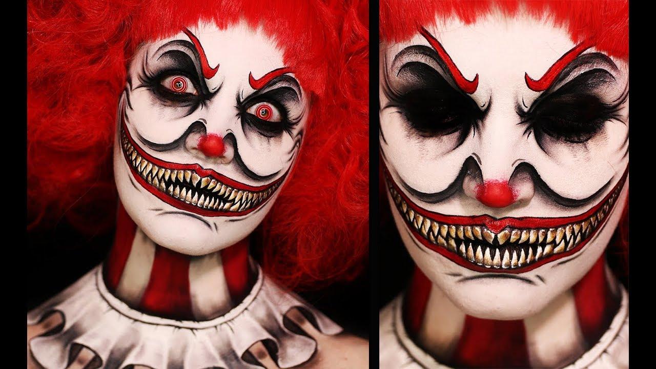 TWISTED CLOWN | Creepy Halloween Makeup Tutorial - YouTube