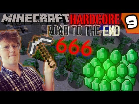 """Experiment """"666"""" 👹🔥 - Minecraft Hardcore Road To The End #9"""