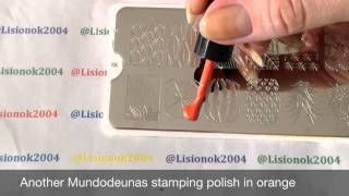 How to create Oranges Mani with MoYou London Stamping Plate / Апельсиновый Маникюр