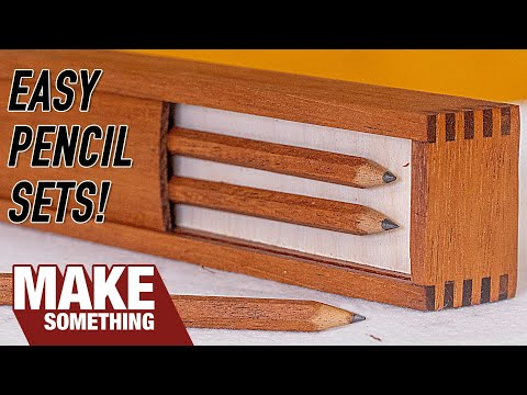 How to Make Solid Wood Pencil Sets | Easy Woodworking Project