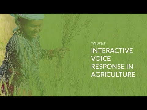 Webinar: Interactive Voice Response in Agriculture