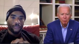 "JOE BIDEN says ""YOU AINT BLACK"" if you vote for DONALD TRUMP. WITH CHARLAMAGNE THE GOD"