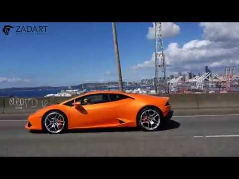 Driving a Lamborghini Huracan Through Seattle: Zadart Exotic Car Club & Rentals
