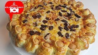 yumusacik pizza hamuru /  sosisli pizza / börek / nefis yemek tarifeleri / GÜLSÜMÜN SARAYI
