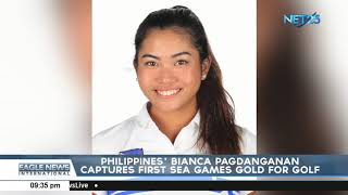 Philippines Binca Pagdanganan captures first SEA Games gold for golf