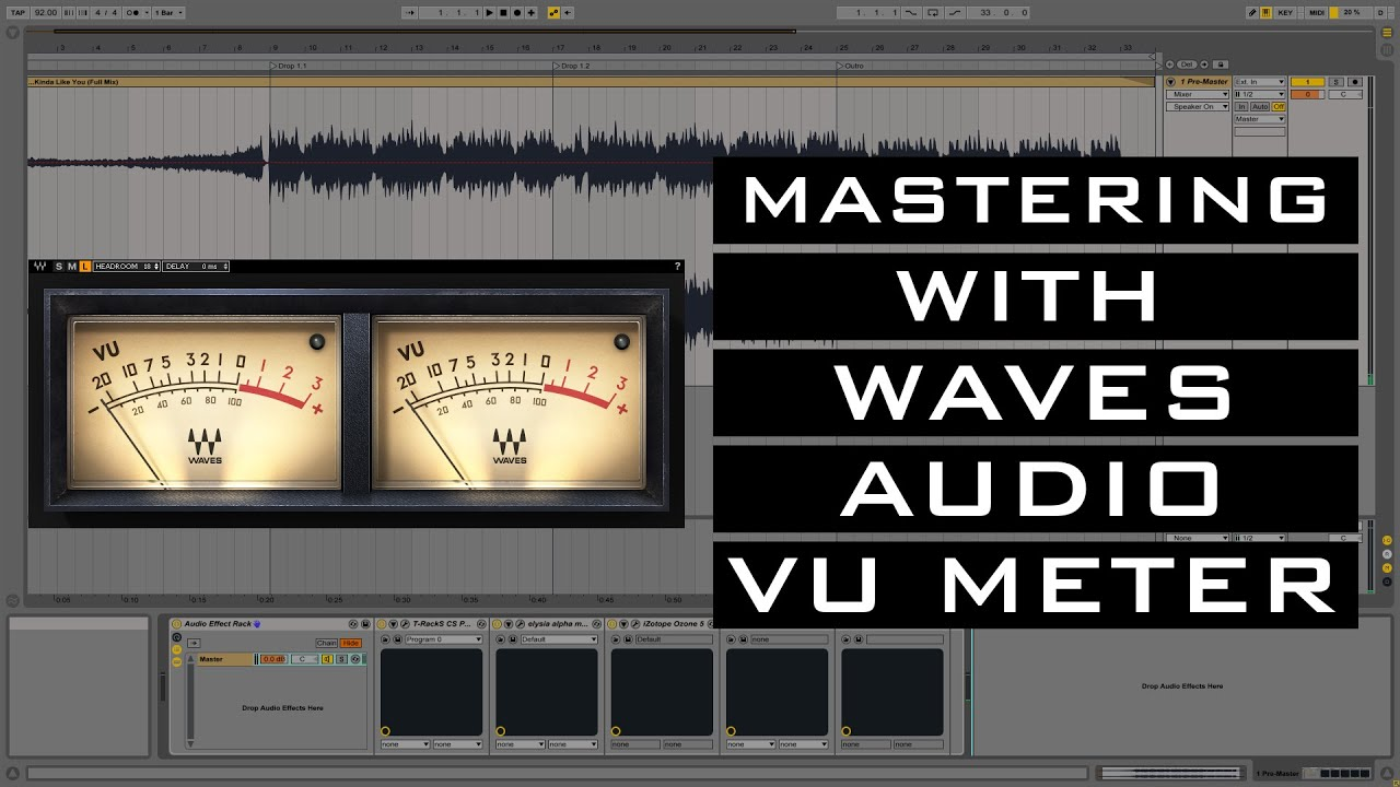 Mastering with Waves VU Meter (Tutorial)