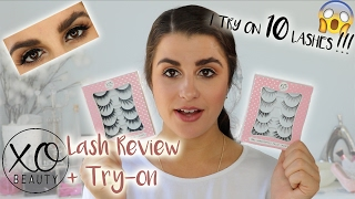 xoBeauty Lash Review + Try-on - I try on 10 pairs of LASHES!!!