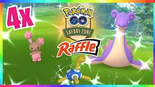 4x SHINY BUNEARY CAUGHT + SAFARI EVENT RAFFLE in Pokemon Go!