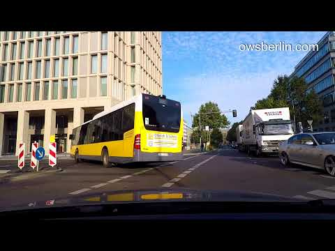 Авто прогулка по Берлину / Driving in Berlin 2017: Leipziger Straße - Marienfelder Allee