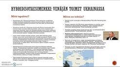 Hybridisotaesimerkki: Venäjän toimet Ukrainassa