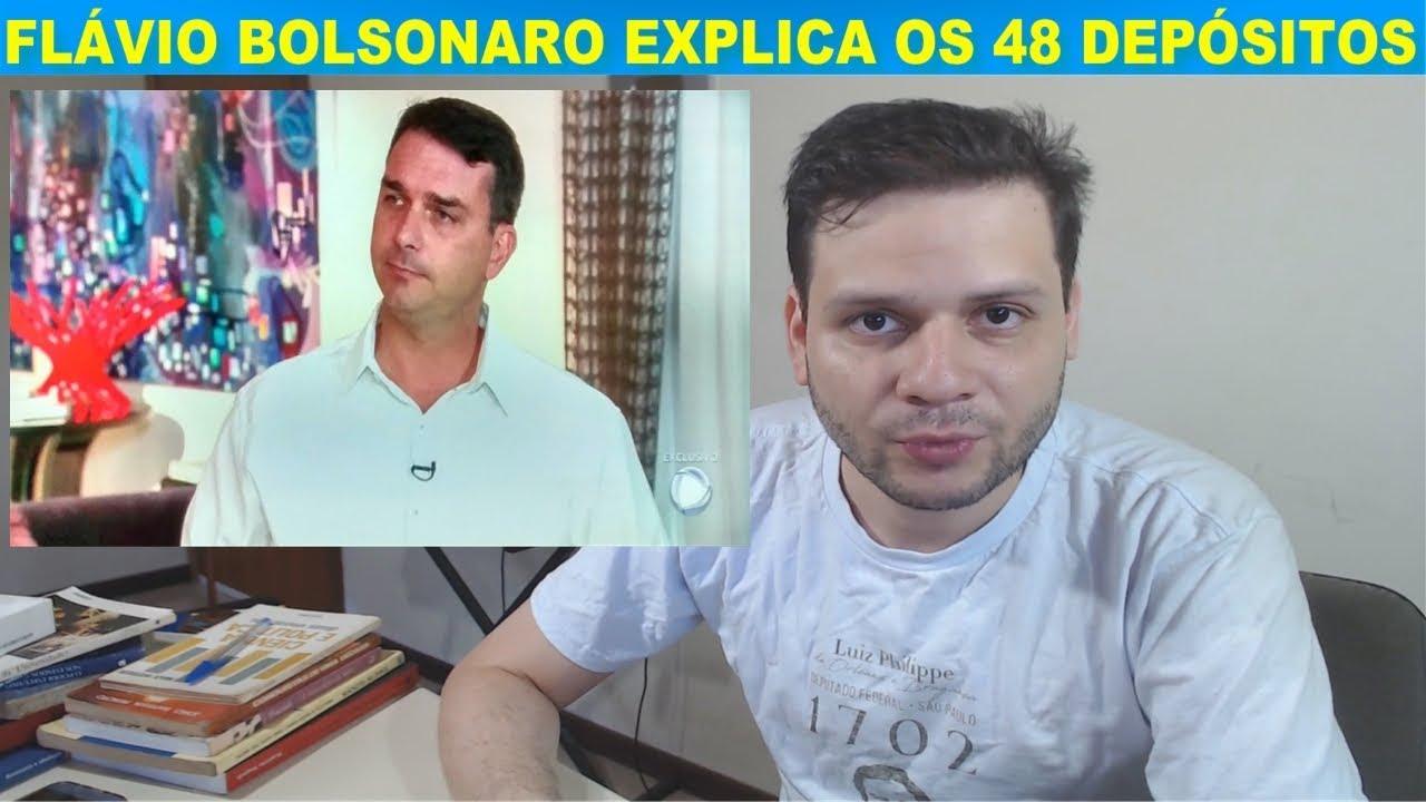 Flávio Bolsonaro e a explicação de 48 depósitos de 2 mil reais e mais 1 milhão de reais. Análise