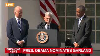 Watch Merrick Garland Accept Obama's SCOTUS Nomination in Emotional Speech