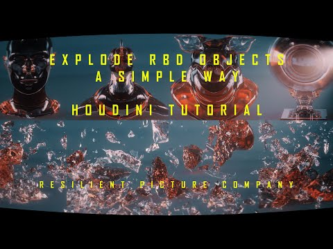 EXPLODE RBD OBJECTS - A SIMPLE WAY - HOUDINI TUTORIAL