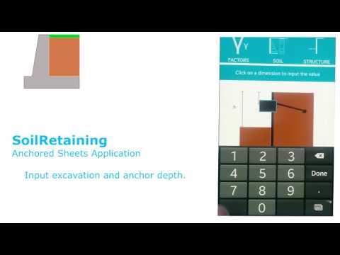 SoilRetaining - Anchored Sheet Practical Problem