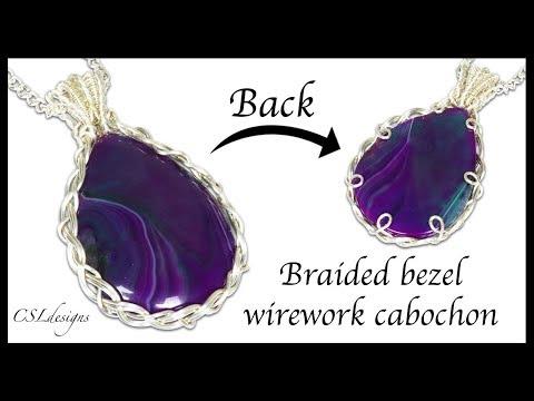 Braided bezel wirework cabochon