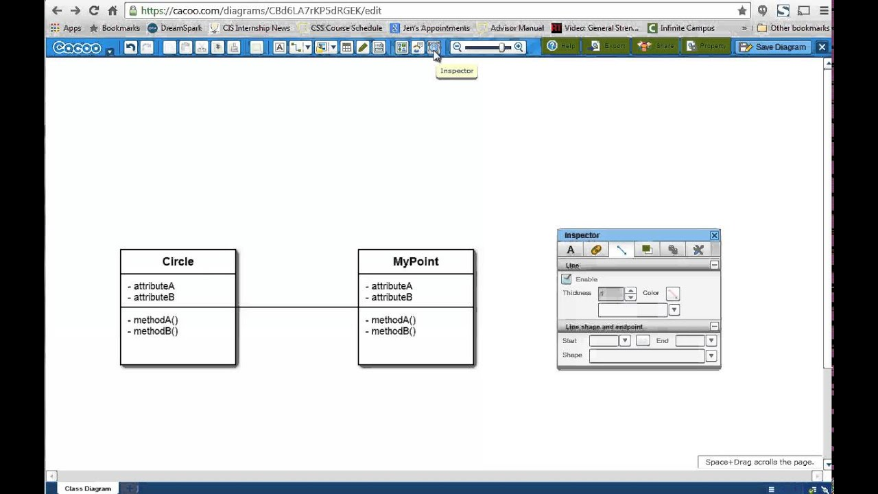 Unit 4: Creating UML Class Relationships in Cacoo - YouTube