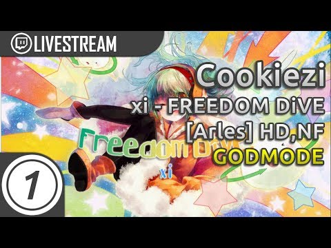 Cookiezi going GODMODE on xi - FREEDOM DiVE [Arles] +HDNF 1920/2667x 93.24% 9.7*