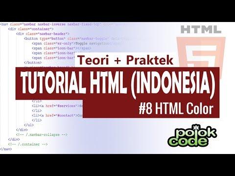 Tutorial HTML Bahasa Indonesia #8 Membuat Warna Dengan HTML Dan CSS