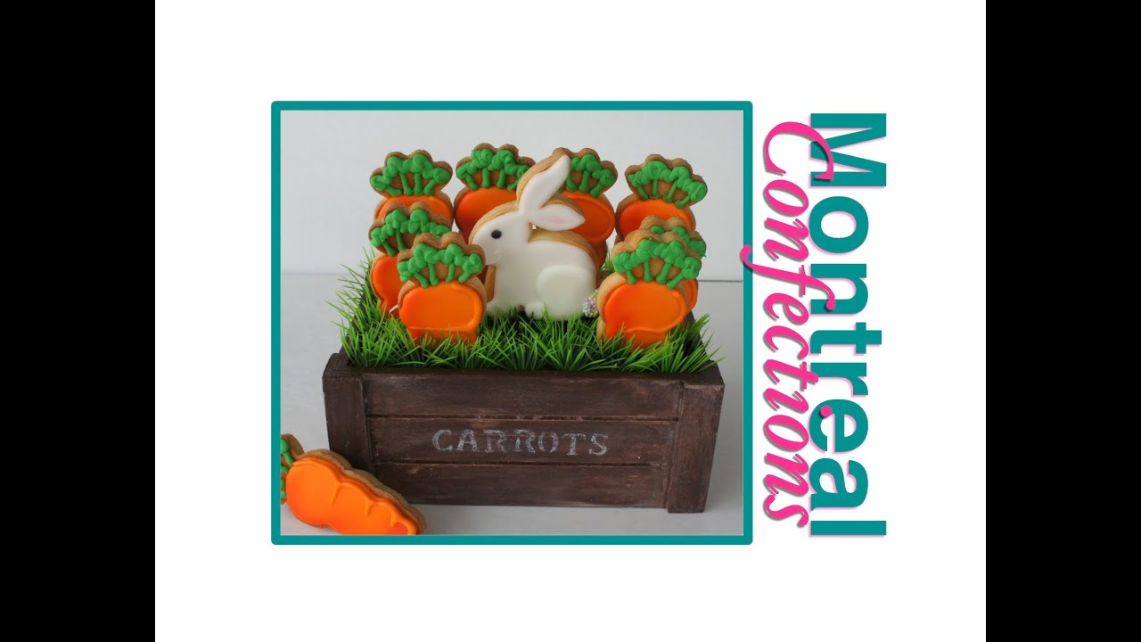 Easter gift basket decorated cookies youtube easter gift basket decorated cookies montreal confections negle Images