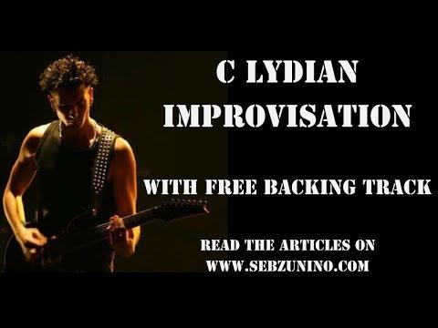 C LYDIAN IMPROVISATION & FREE BACKING TRACK