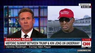 Dennis Rodman gets emotional after Trump-Kim summit (abstract)