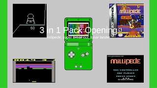 """BRAND NEW..! """"3 in 1"""" (Milipede, SUPER Break Out, and Lunar Lander) GBA Pack Opening"""