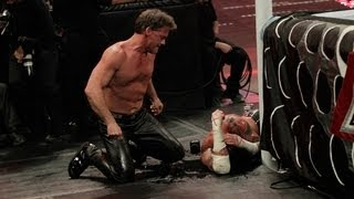 Chris Jericho smashes a bottle over CM Punk