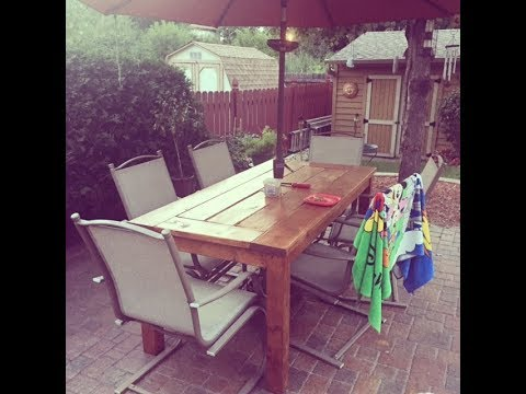 DIY Patio Table with Built-In Coolers - How To Build