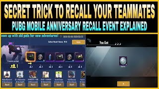 sECRET TRICK TO RECALL YOUR TEAMMATES IN PUBG MOBILE 😱|| PUBG MOBILE RECALL EVENT EXPLAINED ||