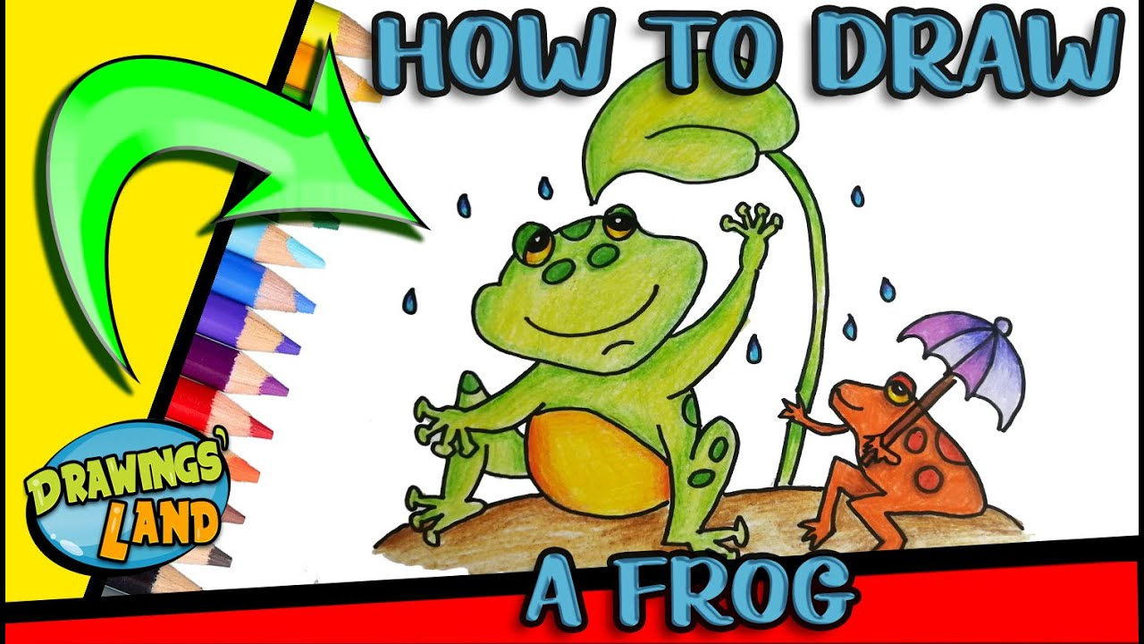 How to DRAW a FROG Easy Step by Step - YouTube