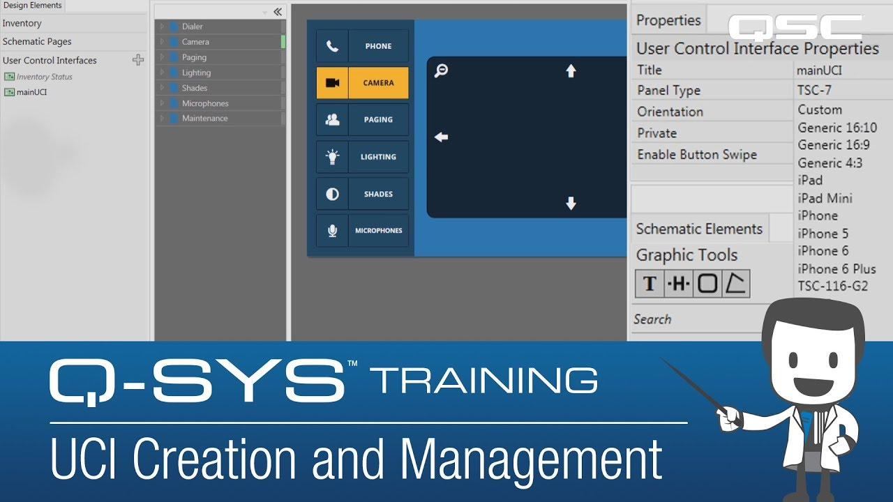Q Sys Training Uci Creation And Management Youtube