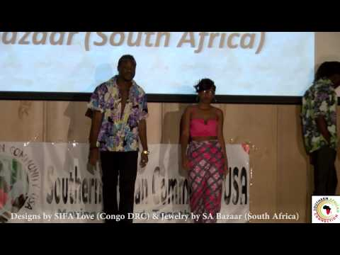 Sifa Love (Congo-DRC) at the Southern African Fashion Show - USA 2014