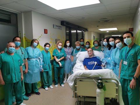El paciente que más días ha estado en la UCI por Covid-19 pasa a planta