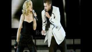 Madonna ft Justin Timberlake - 4 minutes tick tock / tic toc ( lyrics )