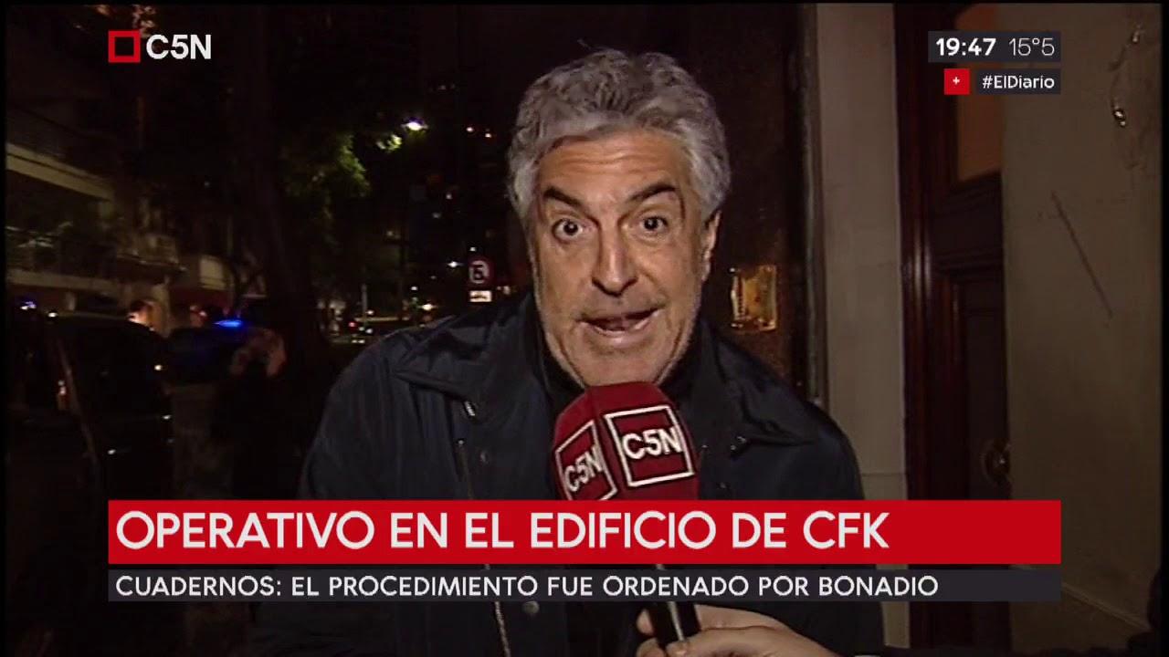 Operativo en el edificio de Cristina Kirchner.