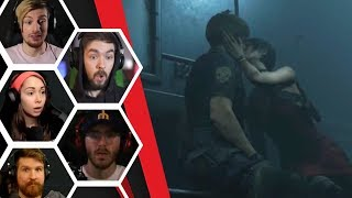 Let's Players Reaction To Ada Kissing Leon | Resident Evil 2 Remake