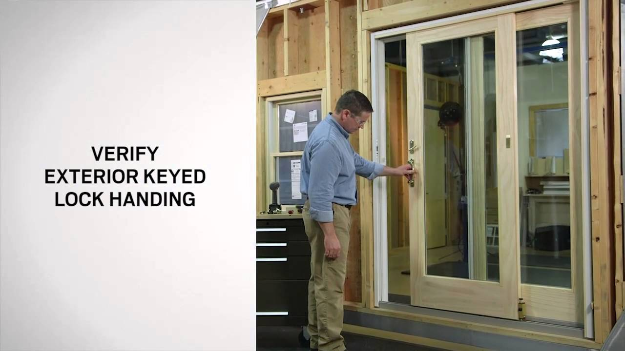 exterior keyed lock installation on andersen frenchwood gliding doors youtube. Black Bedroom Furniture Sets. Home Design Ideas