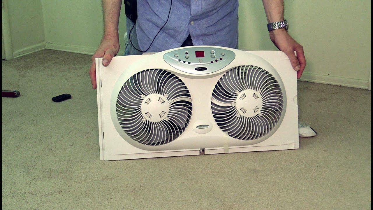 Bionaire Twin Reversible Airflow Window Fan Poke Depot Review Youtube