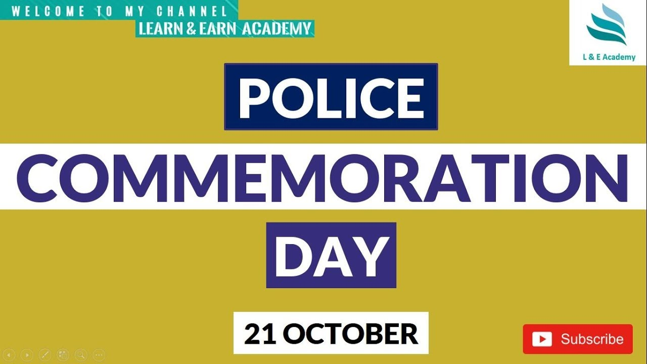 Police Commemoration Day || 21 October || - YouTube