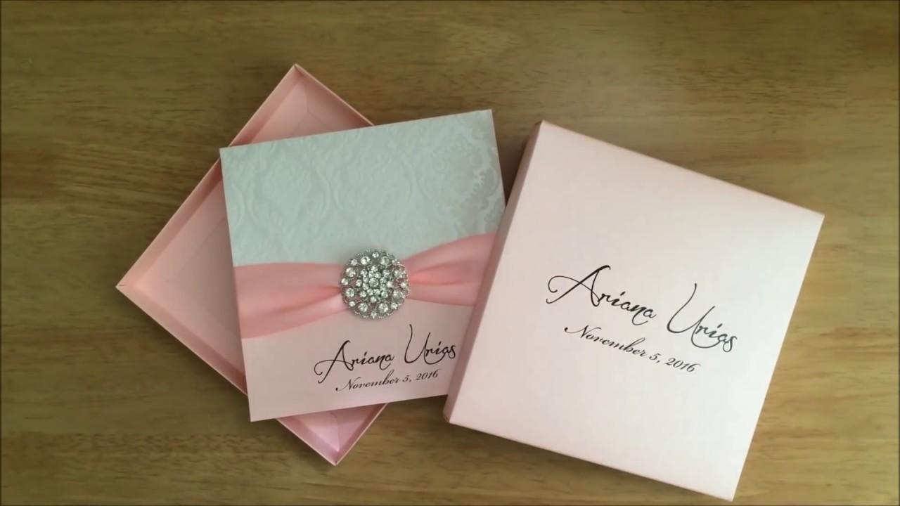 Wedding Invitation In A Box: How To Assembling Box Wedding Invitation