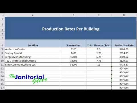 Production Rates Tracking For Commercial Cleaning Companies You