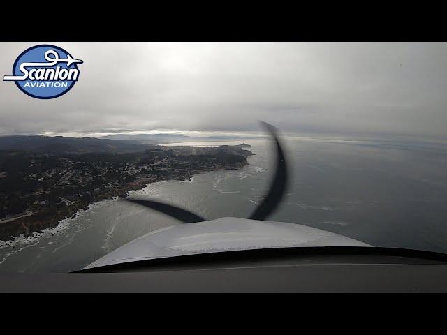 Flight from Gnoss Field To Half Moon Bay
