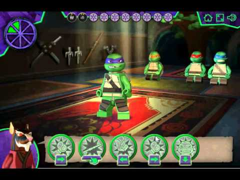 Лего Ниндзя игра Турнир Черепашек Ниндзя (Lego Teenage Mutant Turtles Ninja Training)