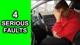 Practical Driving Test Fail Video - 4 Serious Driving Faults!