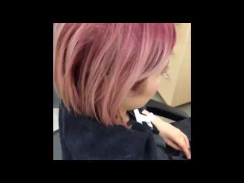 Pink to silver colour correction using Aveda