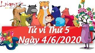 Xem tử vi hàng ngày - Tử vi Thứ 5 ngày 4 tháng 6 năm 2020 của 12 con giáp