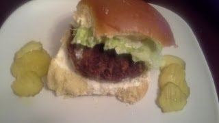 Firecracker Burger With Cooling Lime Sauce