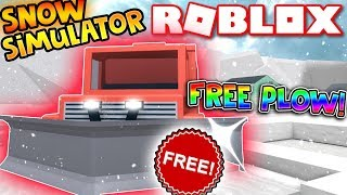 HOW TO GET THE BIG PLOW FOR FREE! | (Snow Shoveling Simulator) | ROBLOX