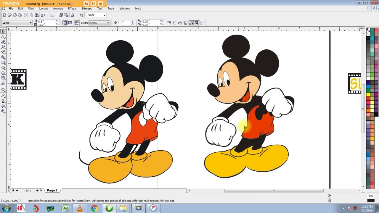 Corel draw clipart images - How To Use Bezier Tool In Corel Draw Create Mickey Mouse In Corel Draw Youtube