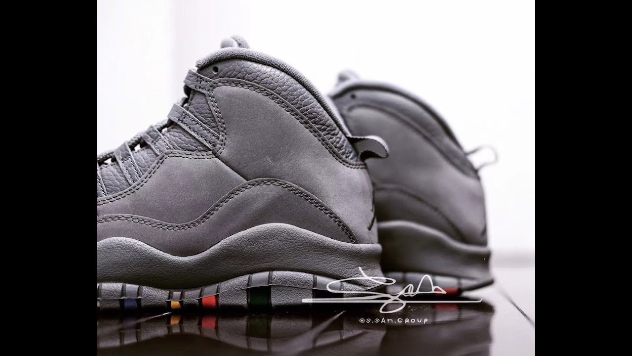 3d7639805156 Air Jordan 10 Cool Grey (2018) Review - YouTube